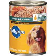Pedigree® Traditional Ground Dinner Chicken & Rice Dog Food