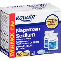 Equate Naproxen Sodium Pain Reliever/Fever Reducer Caplets (Pack of
