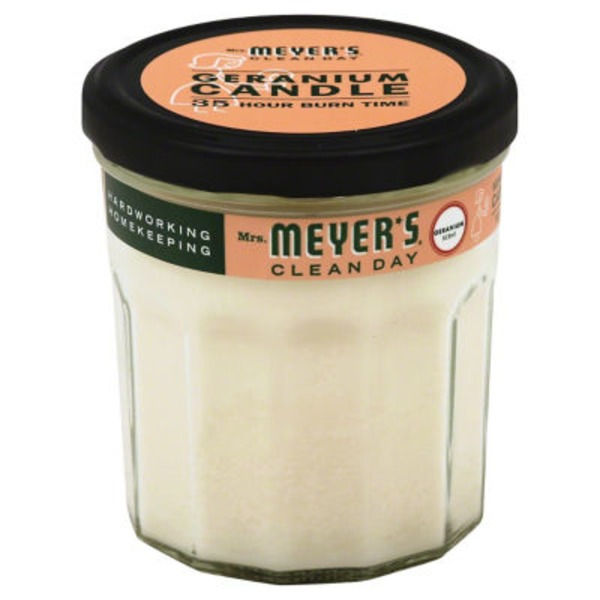 Mrs. Meyer's Clean Day Scented Soy Candle Geranium Scent