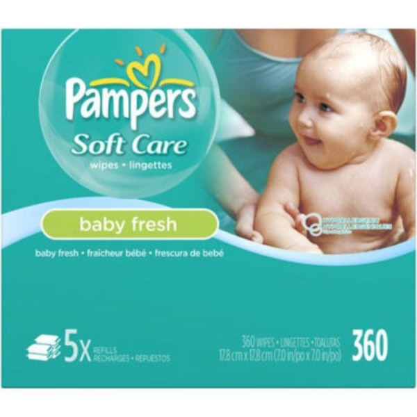 Pampers Baby Fresh Pampers Baby Wipes Baby Fresh 5X Refill 360 count Baby Wipes