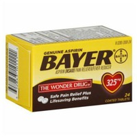 Bayer Aspirin 325mg Coated Tablets Pain Reliever/Fever Reducer