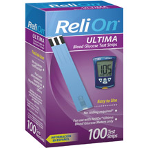 ReliOn Ultima Blood Glucose Test Strips
