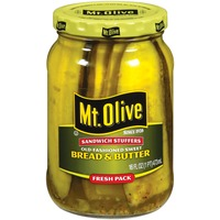 Mt. Olive Bread & Butter Old-Fashioned Sweet Sandwich Stuffers Fresh Pack Pickles