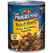 Progresso Savory Beef Barley & Vegetable Soup