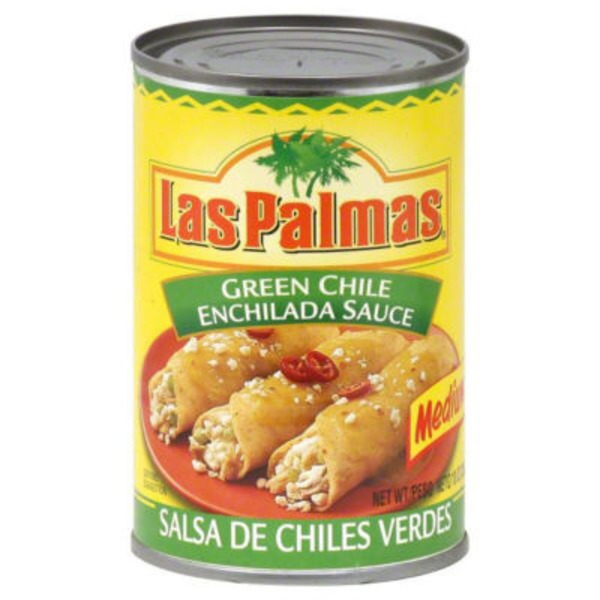 Las Palmas Green Chile Medium Enchilada Sauce