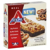 Atkins Chocolate Peanut Butter Pretzel Meal Bars