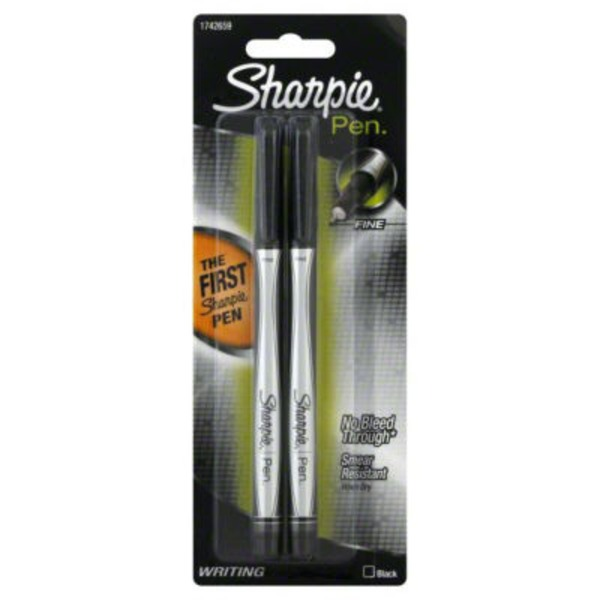 Sharpie Fine Pen Black - 2 CT