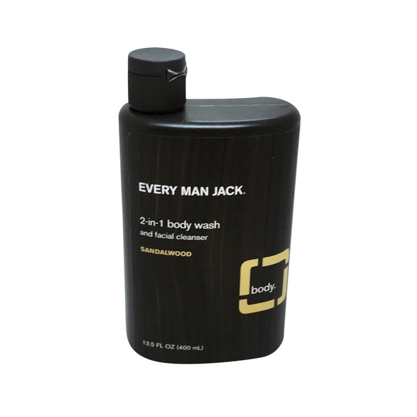 Every Man Jack Sandalwood 2 in 1 Body Wash & Facial Cleanser