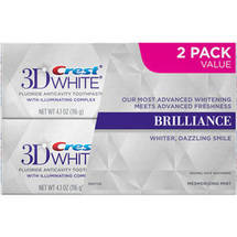 Crest 3D White Brilliance Mesmerizing Mint Flavor Fluoride Anticavity Toothpaste with Illuminating Complex