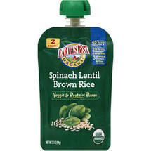 Earth's Best Organic Spinach Lentil Brown Rice Veggie & Protein Puree