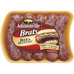 Johnsonville Fresh Pork Sausage Links Bratwurst Beer 19oz