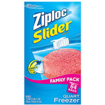 Ziploc Slider Quart Freezer Bags
