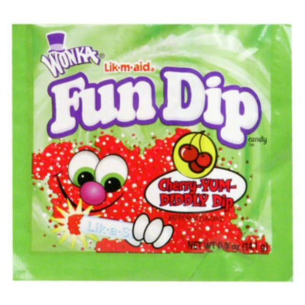 Wonka Fun Dip RazzApple Magic/Cherry Yum Diddly Dip Sugar Candy