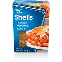 Great Value Shells Pasta
