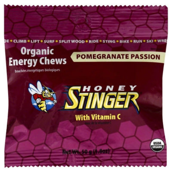 Honey Stinger Pomegranate Passion Organic Energy Chews