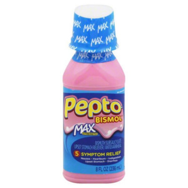 Pepto-Bismol Multi-Symptom Pepto-Bismol Max 5 Symptom Medicine - Including Upset Stomach & Diarrhea Relief 8 oz Stomach Remedy