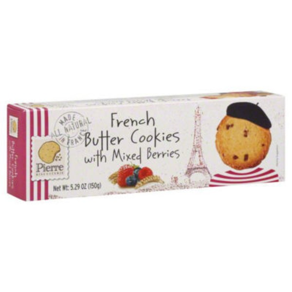 Pierre Biscuiterie Cookies, French Butter, with Mixed Berries