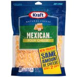 Kraft Finely Shredded Mexican Style Four Cheese Blend