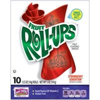 Betty Crocker Fruit Roll-Ups Strawberry Sensation Fruit Flavored Snacks