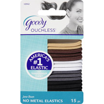 Goody Ouchless No Metal Hair Elastics Java Bean 10942