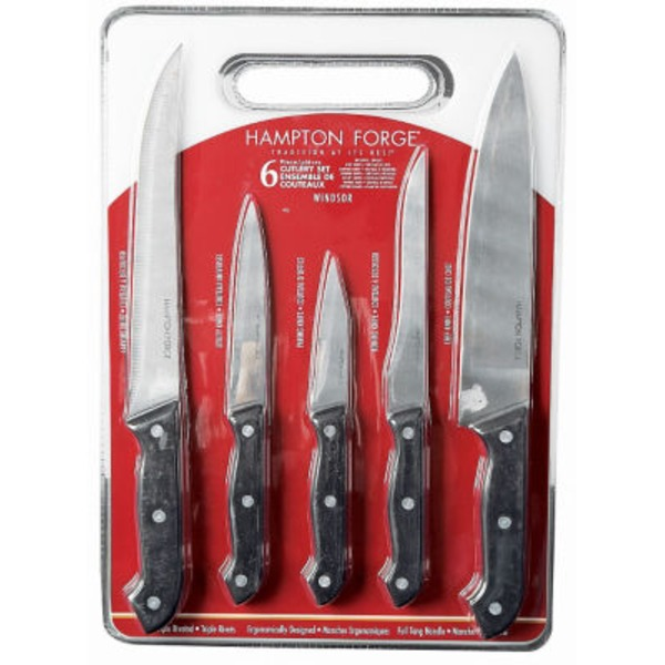 Hampton Forge Windsor 6 Piece Cutlery Set With Cutting Board