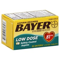 Bayer Low Dose Aspirin 81mg Safety Coated Tablets Pain Reliever