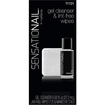 SensatioNail Gel Cleanser & Lint-Free Wipes