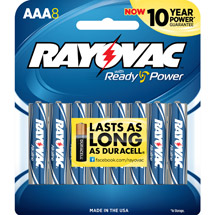 Rayovac Alkaline Multi-Pack AAA Batteries