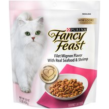 Fancy Feast Dry Filet Mignon Cat Food With Real Seafood & Shrimp