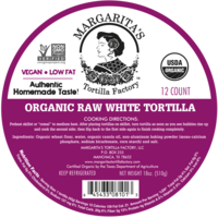 Margarita's Tortilla Factory Organic Raw White Tortillas