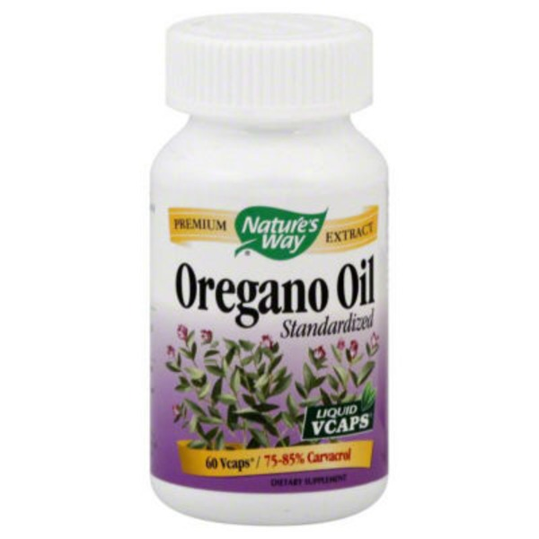 Nature's Way Oregano Oil, Standardized, Liquid Vcaps