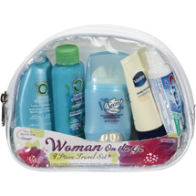 Convenience Kits Woman On The Go 9 Piece Travel Set