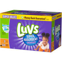 Luvs Leakguards Super Absorbent Diapers Size 3