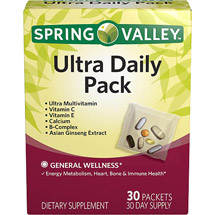 Spring Valley Ultra Daily pk Vitamins and Minerals for Men & Women Dietary Supplement pkets