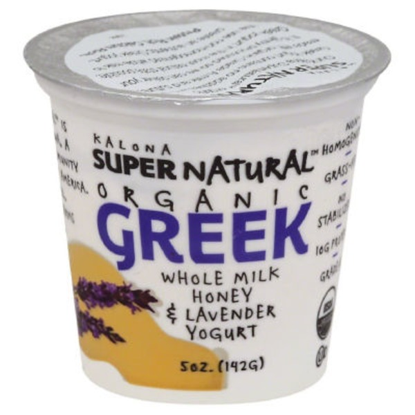 Kalona Super Natural Greek Yogurt, Honey & Lavender, Whole Milk, Organic, Cup