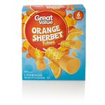 Great Value Orange Sherbet Tubes
