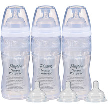 Playtex Drop-Ins Nurser 8-oz Baby Bottles Set of 3 BPA-Free