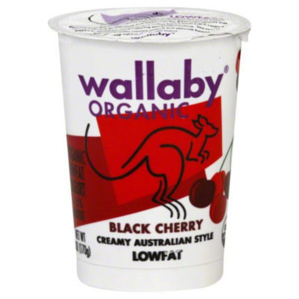 Wallaby Organic Organic Black Cherry Lowfat Yogurt