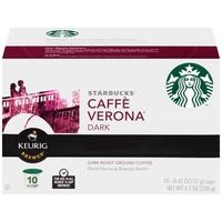 Starbucks Caffè Verona Dark Roasted K-Cup Pods Ground Coffee