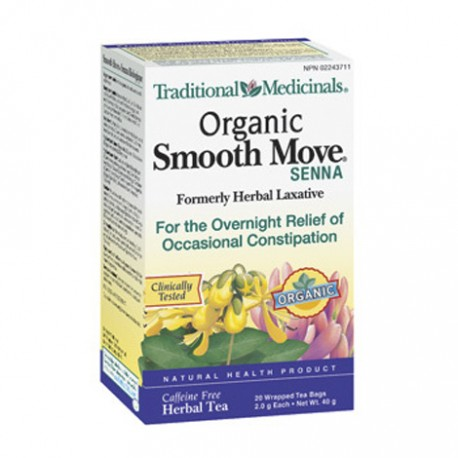 Traditional Medicinals Smooth Move Senna Stimulant Laxative Tea Bags 16 Count