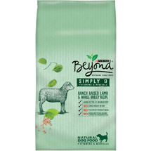 Purina Beyond Simply 9 Ranch Raised Lamb and Whole Barley Recipe Dog Food Bag