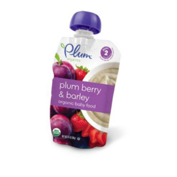 Plum Baby Plum Berry & Barley Stage 2 Baby Food