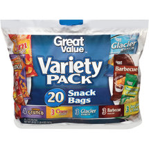 Great Value Chip Variety Pack Snack Bags