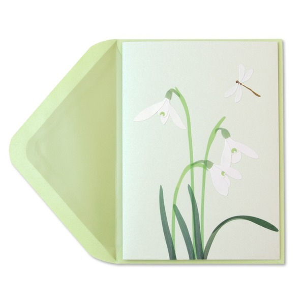Papyrus Sympathy Cards - White Crocus Vellum Sculpture