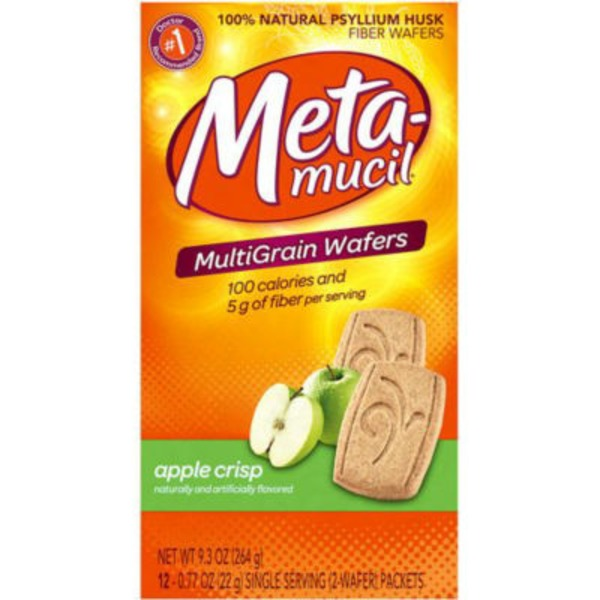 Meta Biotic Meta Multi-grain Fiber Wafers Apple Crisp 12 ct Laxative