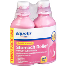 Equate Regular Strength Stomach Relief Bismuth Subsalicylate Liquid (Pack of 2)