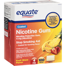 Equate Stop Smoking Aid Fruit Flavored Nicotine Gum 4mg