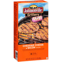 Johnsonville Grillers Cheddar Cheese & Bacon Flavor Patties