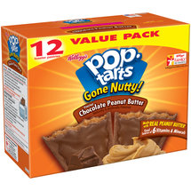 Kellogg's Pop-Tarts Gone Nutty! Frosted Chocolate Peanut Butter Toasted Pastries