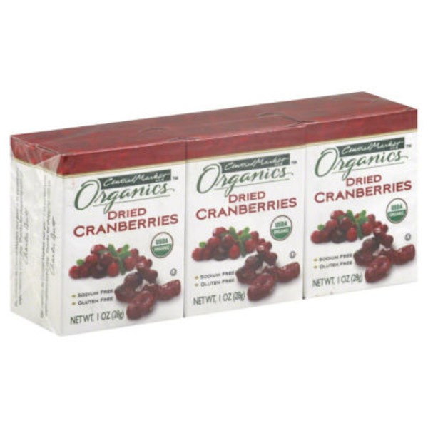 Central Market Organics Dried Cranberries 6 Ct